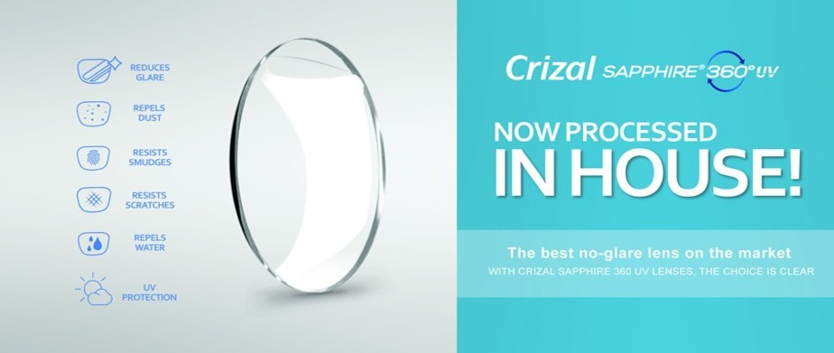 image of Crizal Sapphire 360 in-house